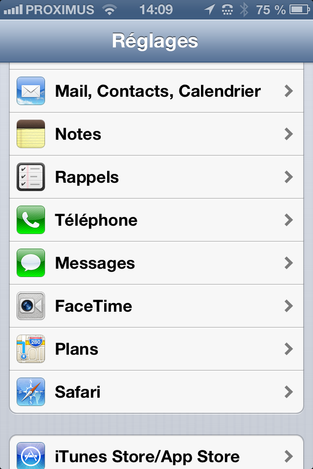 IOS device configuration for qmailrocks - screenshot 1