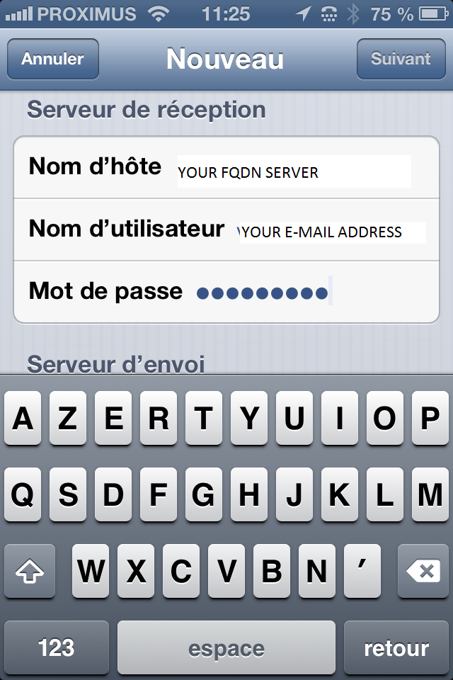 IOS device configuration for qmailrocks - screenshot 7