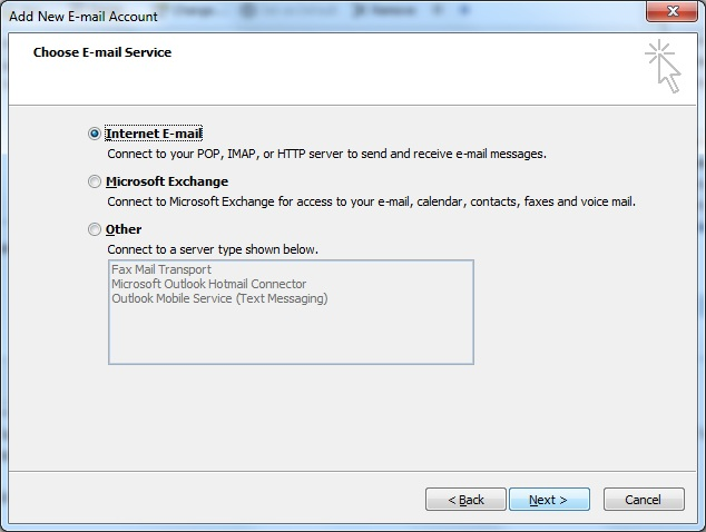 Outlook client configuration for qmailrocks - screenshot 3